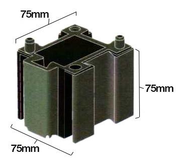 Half Vertical JIG-BRIX Dimensions